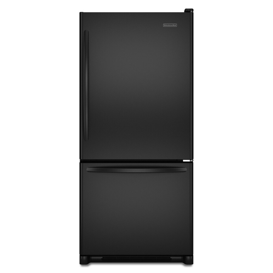 KitchenAid Architect II 18.5-cu ft Bottom-Freezer Refrigerator (Black) ENERGY STAR