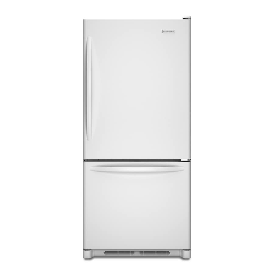 KitchenAid Architect  II 18.5-cu ft Bottom-Freezer Refrigerator (White) ENERGY STAR