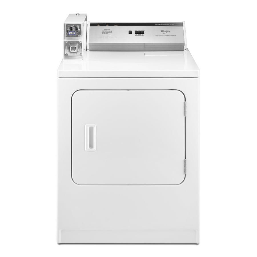 Whirlpool 7-cu ft Coin-Operated Gas Commercial Dryer (White)