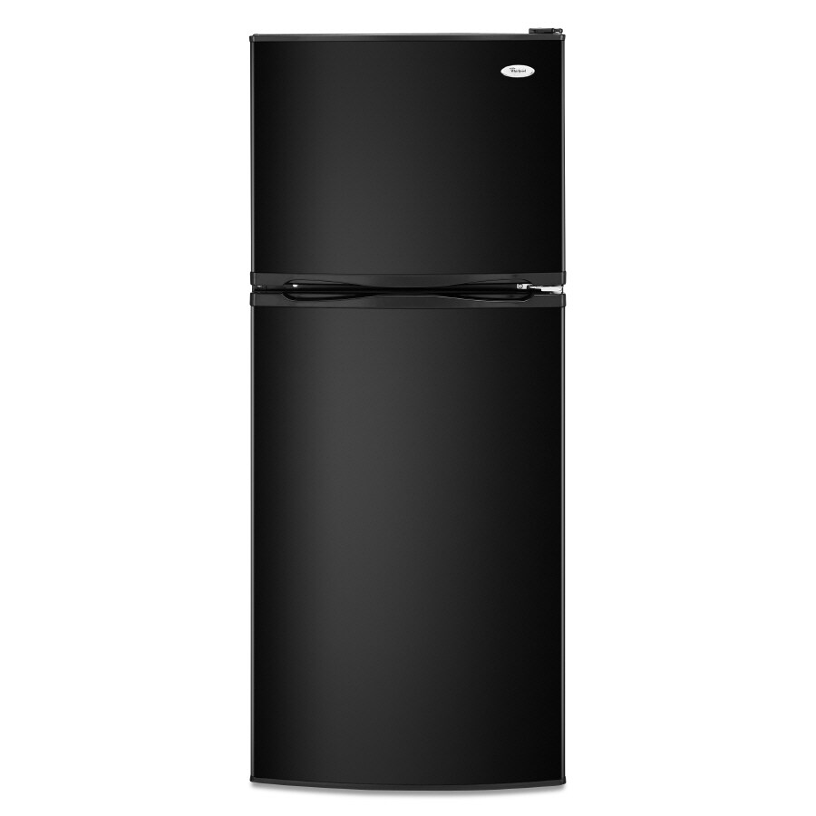 Whirlpool 9.6-cu ft Top-Freezer Refrigerator (Black-On-Black)