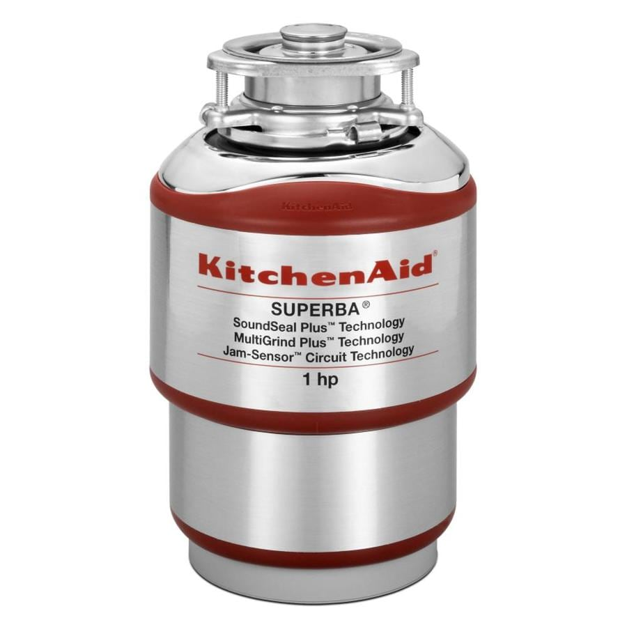 KitchenAid 1-HP Continuous Feed Noise Insulated Garbage Disposal