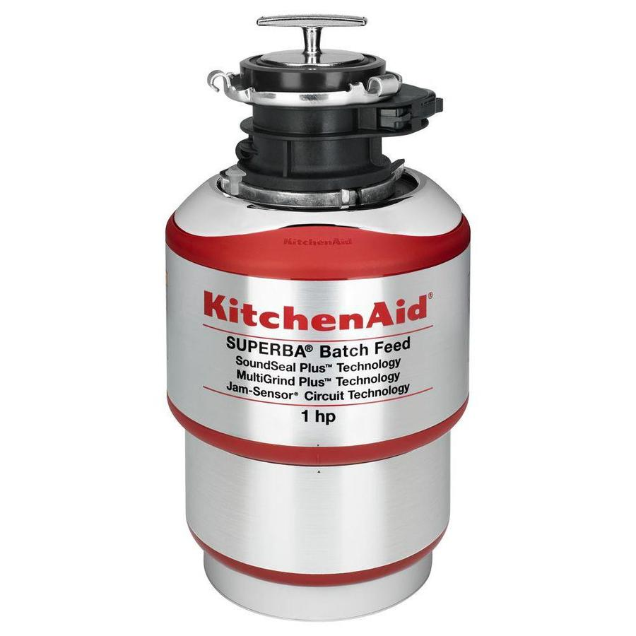 KitchenAid 1 HP Batch Feed Noise Insulated Garbage Disposal