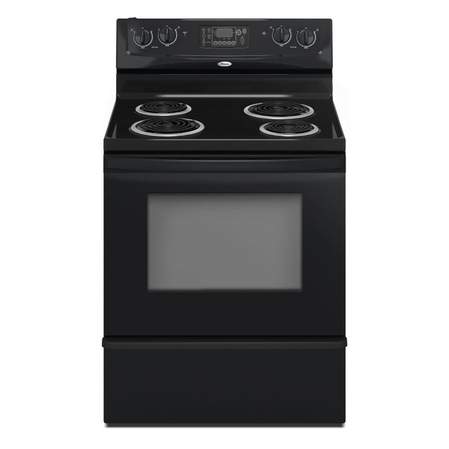 Whirlpool® 30-Inch Freestanding Electric Range (Color: Black)