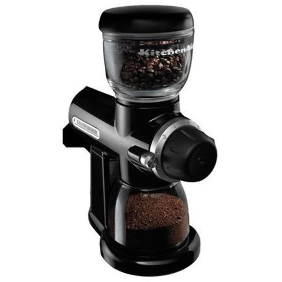 KitchenAid 4.5 oz Onyx Black Burr Coffee Grinder