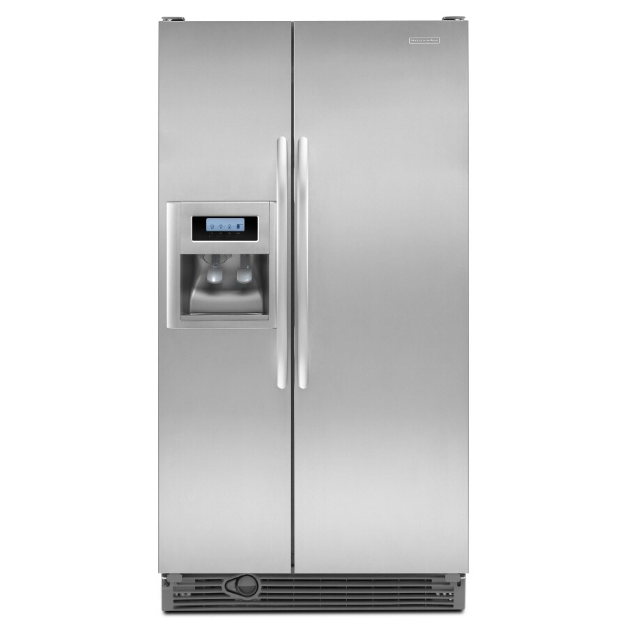 Exceptionnel KitchenAid Architect II 21.8 Cu Ft Side By Side Refrigerator (Monochromatic  Stainless Steel