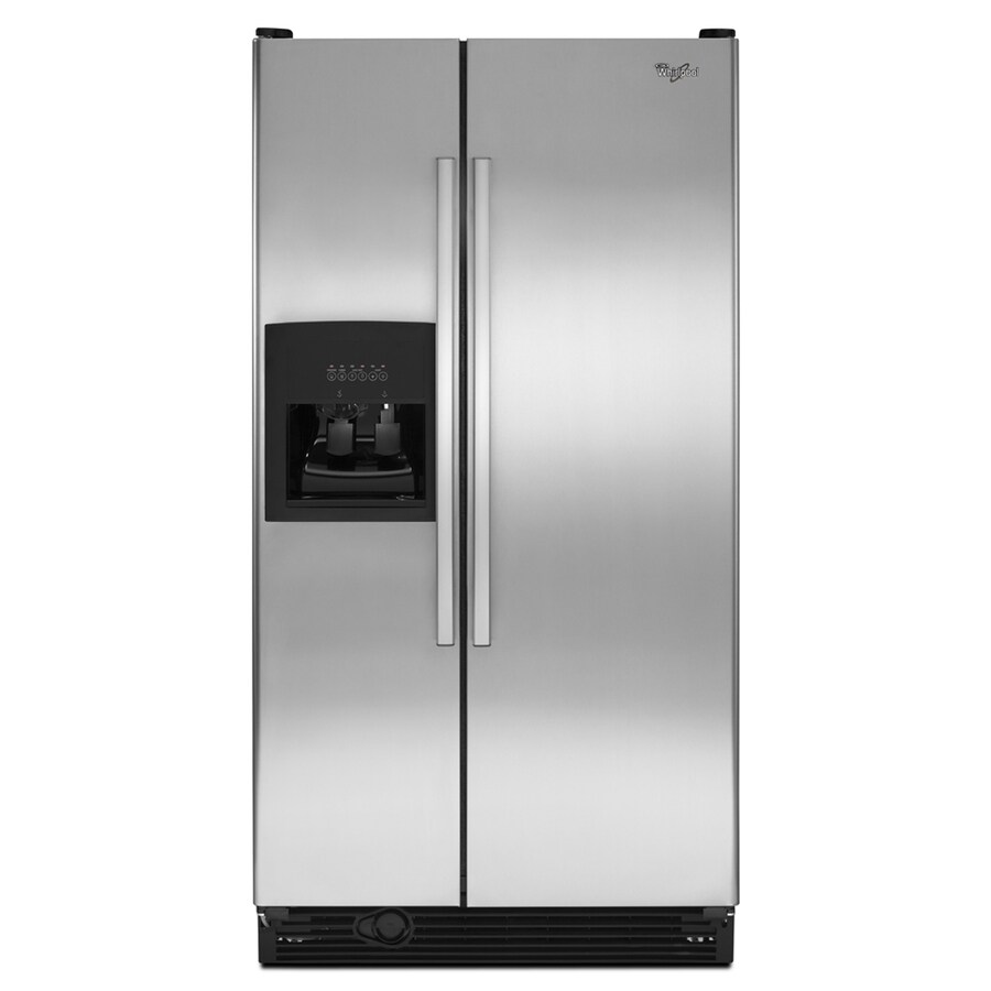 Whirlpool 25.1 cu ft Side-by-Side Refrigerator (Stainless Steel) ENERGY STAR