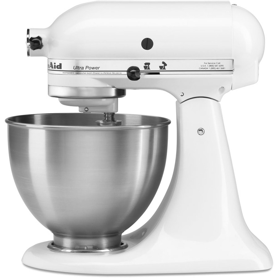 Shop KitchenAid Ultra Power 4.5-Quart 10-Speed White Stand Mixer ...