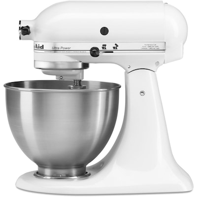 Ultra Power 4.5-Quart 10-Speed White Stand Mixer