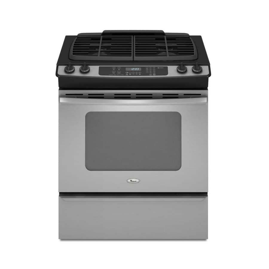 Whirlpool 4.5-cu ft Slide-in Gas Range (Stainless Steel) (Common: 30-in; Actual 29.875-in)