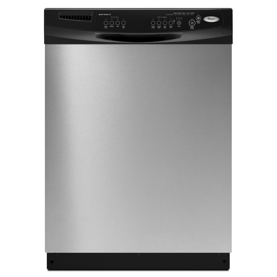 Whirlpool 60-Decibel Built-In Dishwasher with Hard Food Disposer (Stainless Steel) (Common: 24-in; Actual 23.875-in) ENERGY STAR
