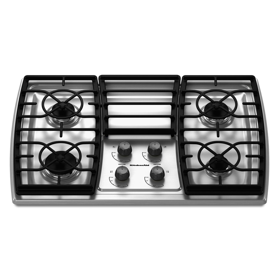 Kitchenaid Architect Ii 4 Burner Gas Cooktop Stainless Common 30