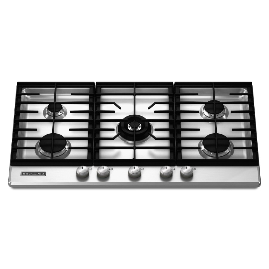 KitchenAid Architect II 5-Burner Gas Cooktop (Stainless) (Common: 36-in; Actual: 36.25-in)