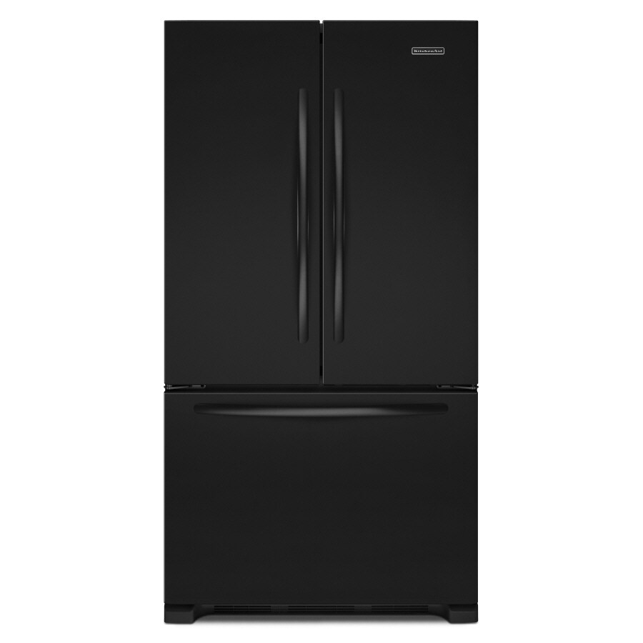 KitchenAid Architect II 21.8-cu ft Counter-Depth French Door Refrigerator with Single Ice Maker (Black) ENERGY STAR