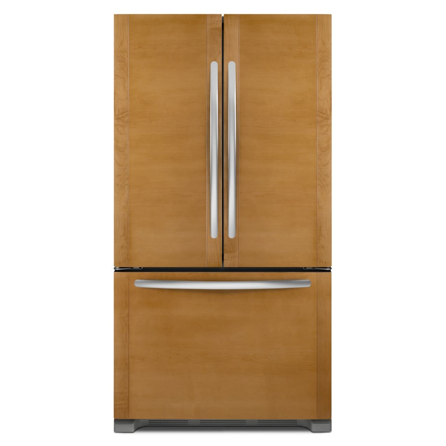 KitchenAid 21.8-cu ft Counter-Depth French Door Refrigerator with Single Ice Maker (Custom Panel) ENERGY STAR
