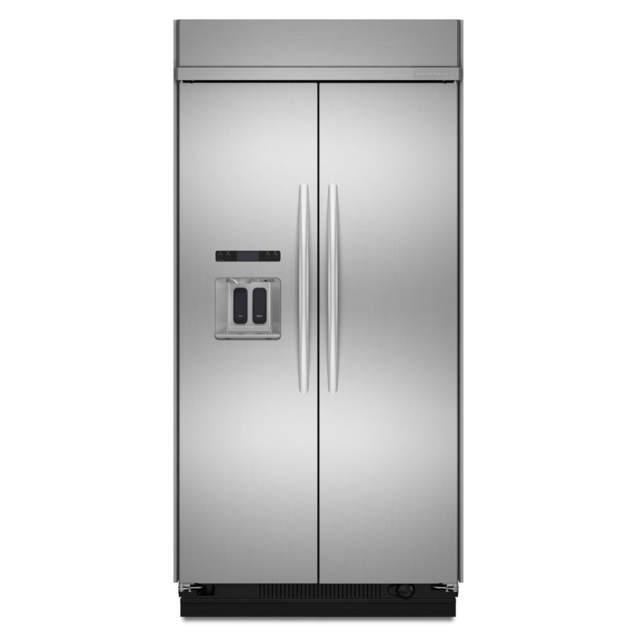 KitchenAid Architect Ii 29.52-cu ft Built-in Side-By-Side Refrigerator with Single Ice Maker (Stainless Steel) ENERGY STAR