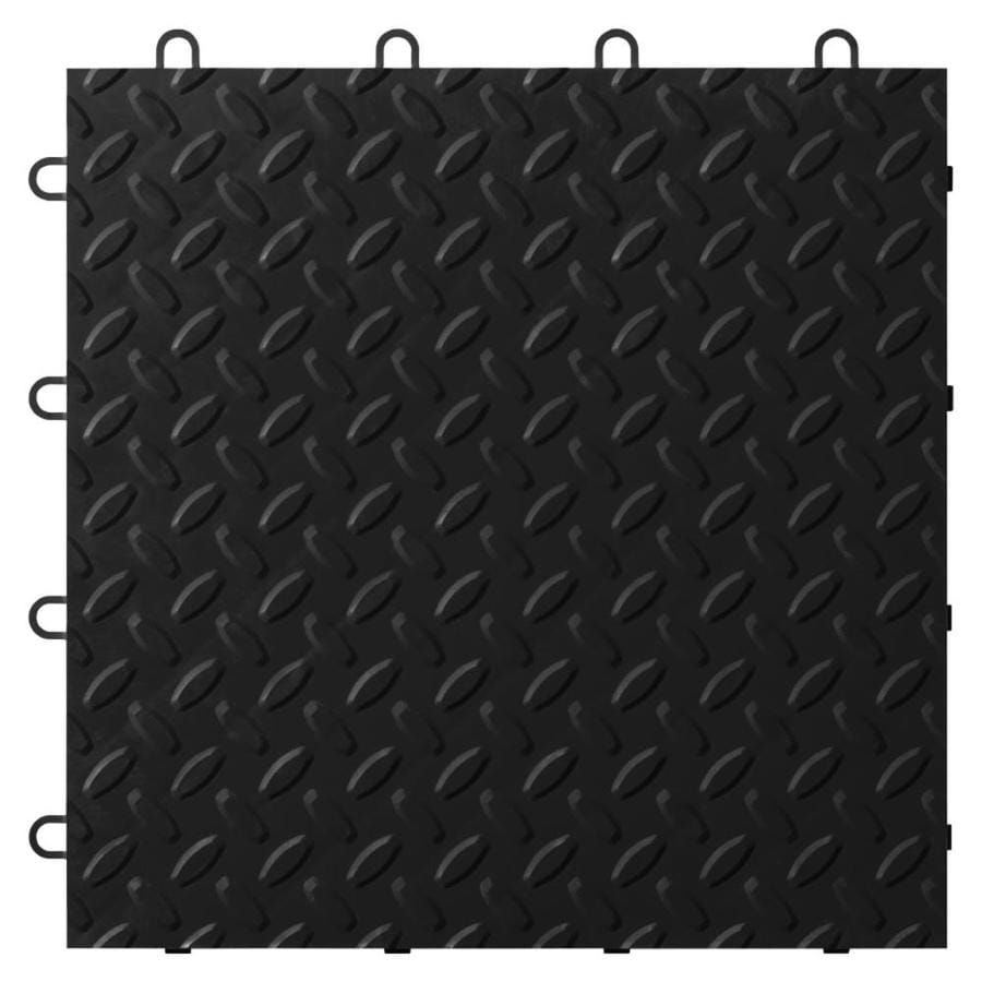 Shop gladiator 24 piece 12 in x 12 in black diamond plate garage gladiator 24 piece 12 in x 12 in black diamond plate garage floor dailygadgetfo Choice Image