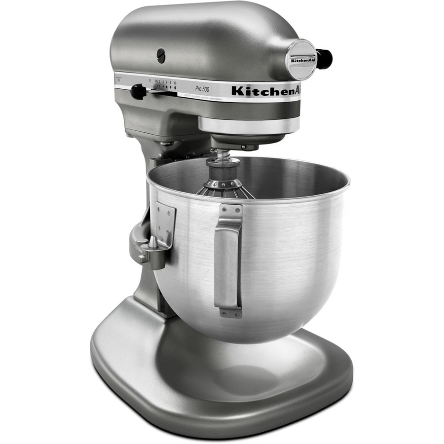 shop kitchenaid pro 500 series 5-quart 10-speed silver metallic