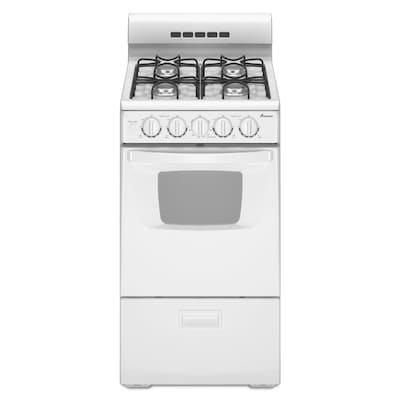 4 Burners 2.6-cu ft Freestanding Gas Range (White) (Common: 20-in; Actual:  19.75-in)