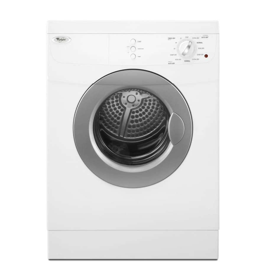 Whirlpool 3 8 Cu Ft Stackable Electric Dryer White At