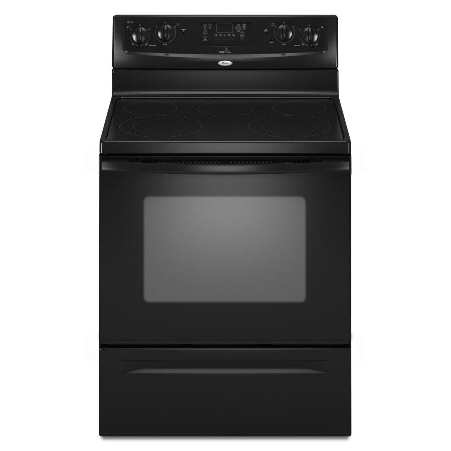 Whirlpool� 30-Inch Freestanding Electric Range (Color: Black)
