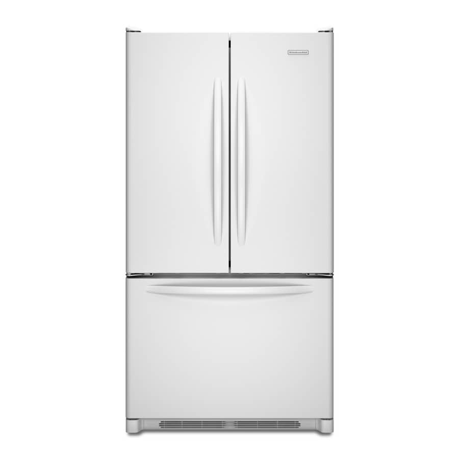 KitchenAid Architect II 19.6-cu ft French Door Counter-Depth Refrigerator with Single Ice Maker (White) ENERGY STAR