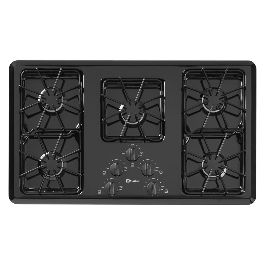 Maytag 5-Burner Gas Cooktop (Black) (Common: 36-in; Actual: 36-in)