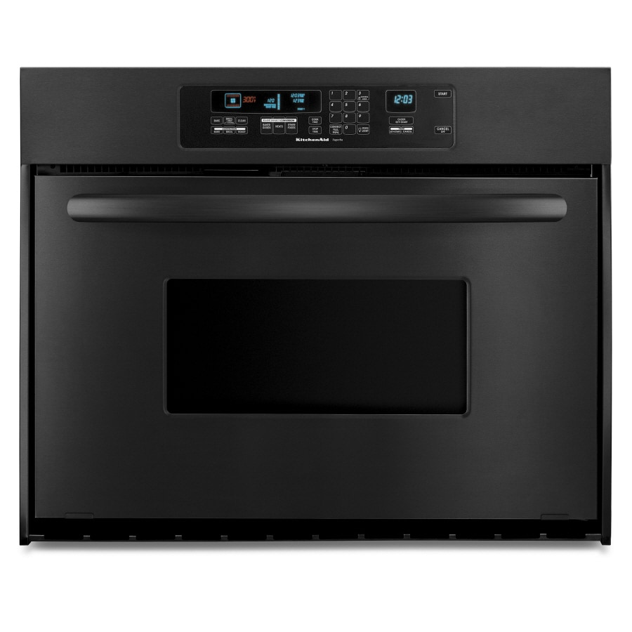 KitchenAid Architect 24-in Self-Cleaning Convection Single Electric Wall Oven (Black)