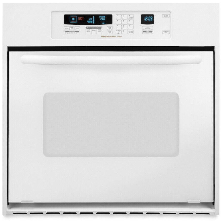 Superb KitchenAid Architect 24 In Self Cleaning Convection Single Electric Wall  Oven (White)