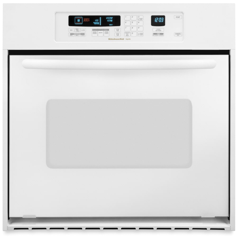 Genial KitchenAid Architect 24 In Self Cleaning Convection Single Electric Wall  Oven (White)