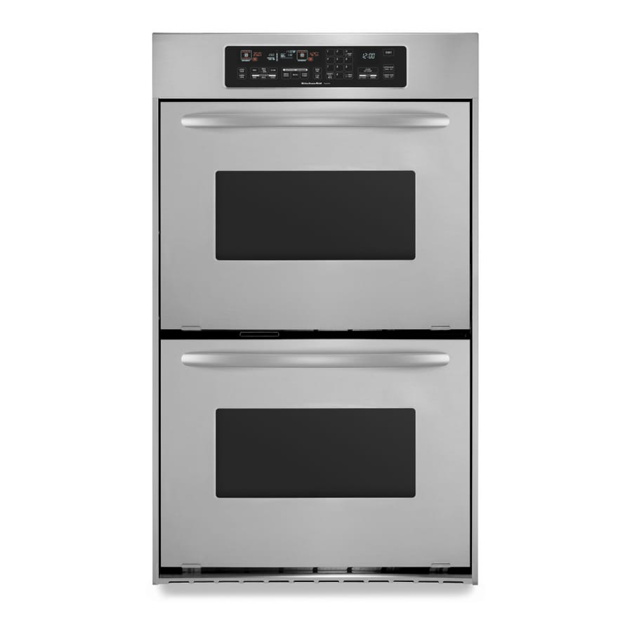 Exceptionnel KitchenAid Architect Convection Double Electric Wall Oven (Stainless Steel)  (Common: 24