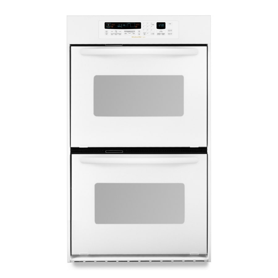 KitchenAid Architect Convection Double Electric Wall Oven (White) (Common:  24 In