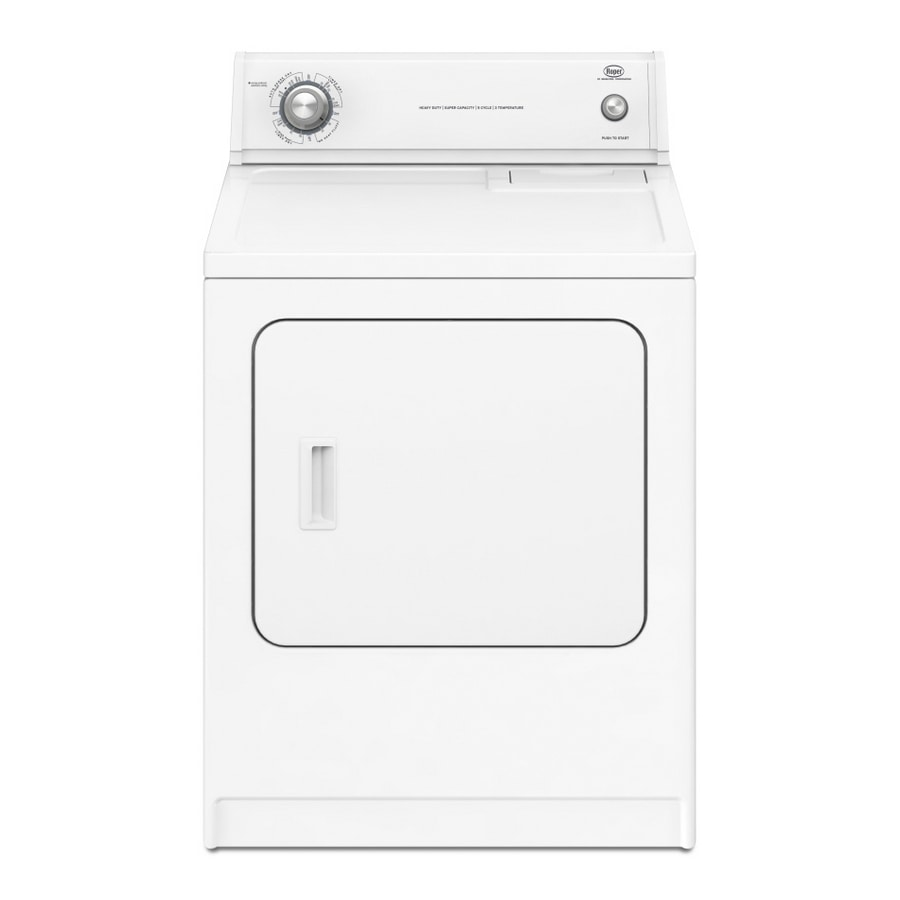 Roper Dryer Washer And Dryers Red4440vq1 Wiring Diagram Shop 65 Cu Ft Gas White At Lowescom