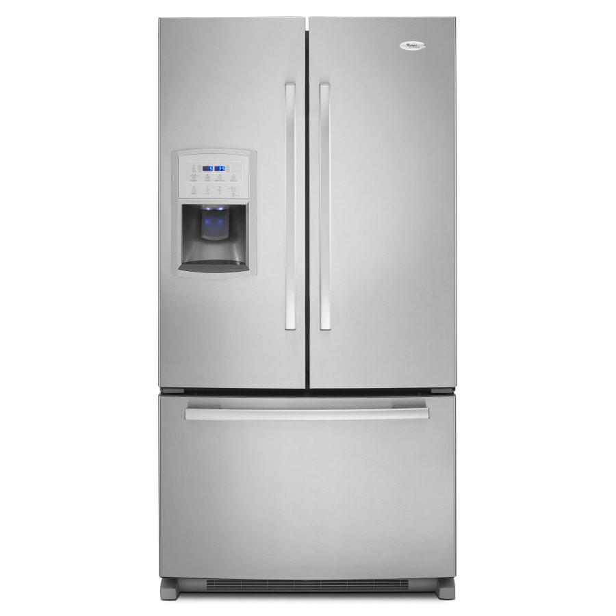 Whirlpool Gold 19.72-cu ft Counter-Depth French Door Refrigerator with Single Ice Maker (Monochromatic Stainless Steel)