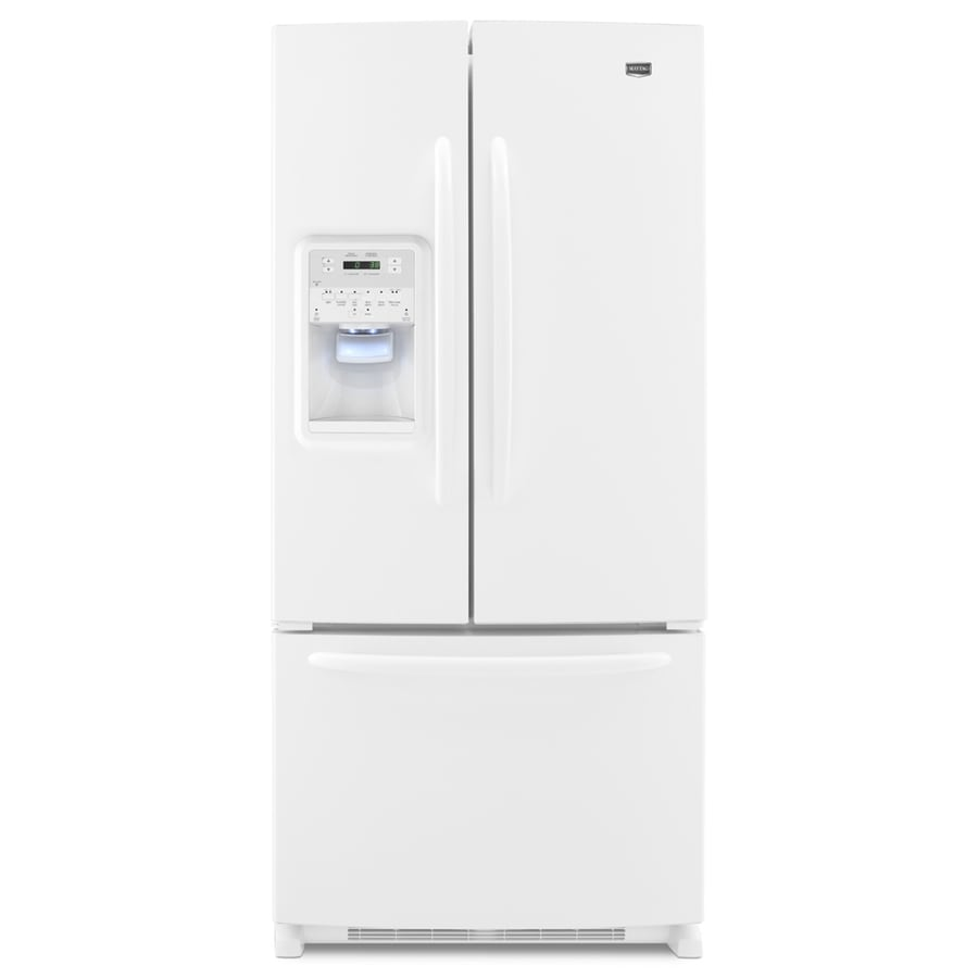 Maytag 21.8-cu ft French Door Refrigerator with Single Ice Maker (White) ENERGY STAR