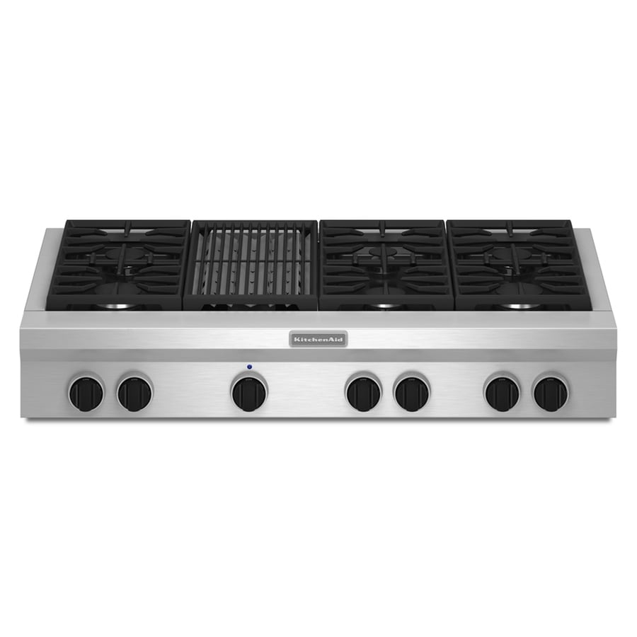 Kitchenaid 6 Burner Gas Cooktop Stainless Steel Common