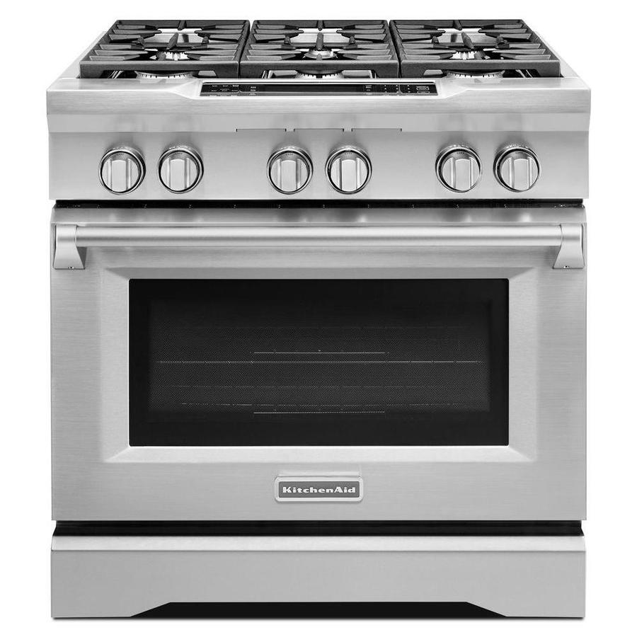 Stoves And Ovens ~ Shop kitchenaid deep recessed burner self cleaning