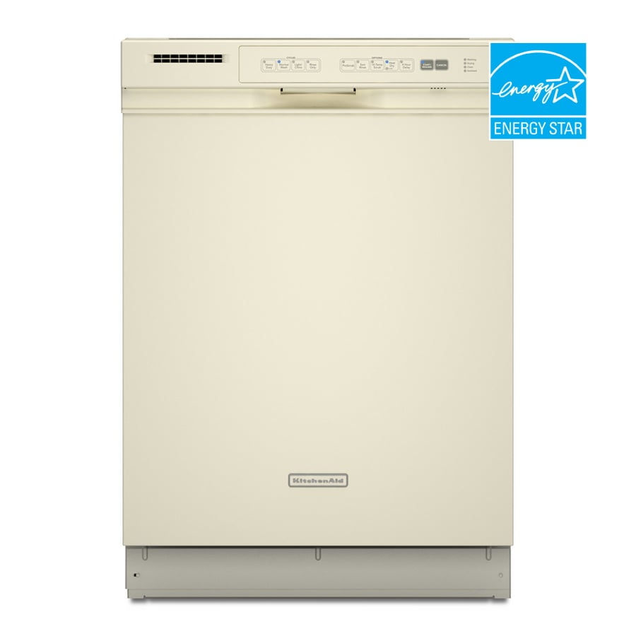 Shop KitchenAid 24-Inch Tall Tub Built-In Dishwasher (Color: Biscuit ...
