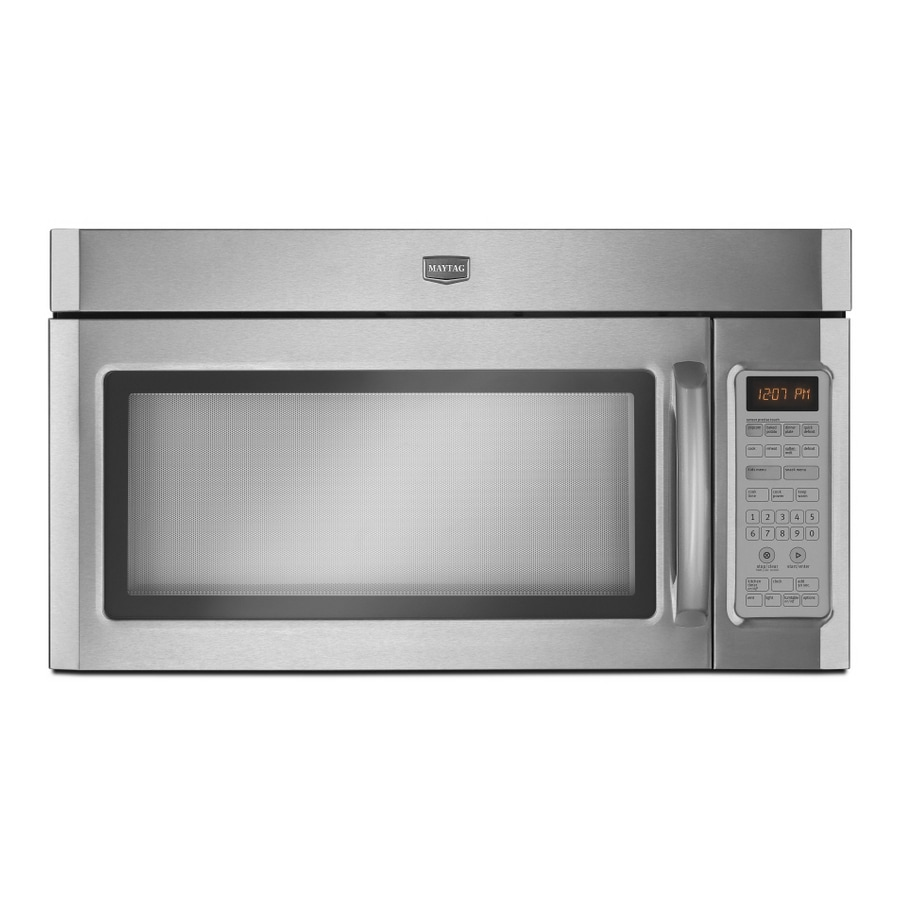 Maytag 2-cu ft Over-The-Range Microwave with Sensor Cooking Controls (Stainless Steel) (Common: 30-in; Actual: 29.5-in)