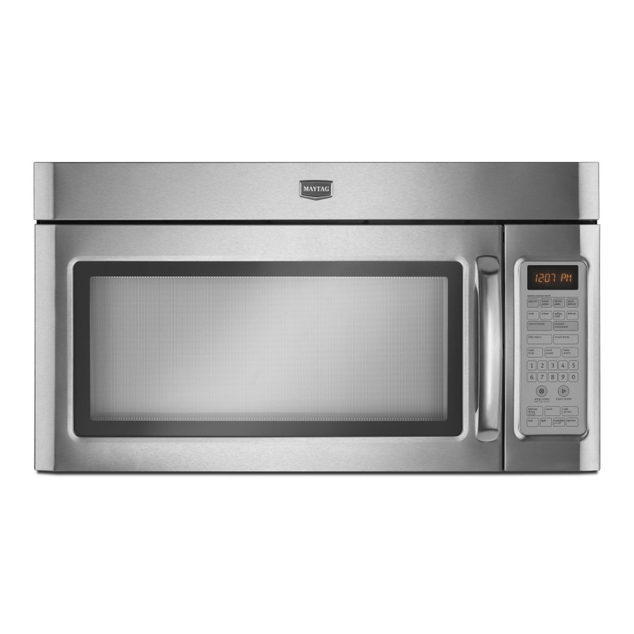 Maytag 30-in 1.8-cu ft Over-the-Range Convection Microwave with Sensor Cooking Controls (Stainless Steel)