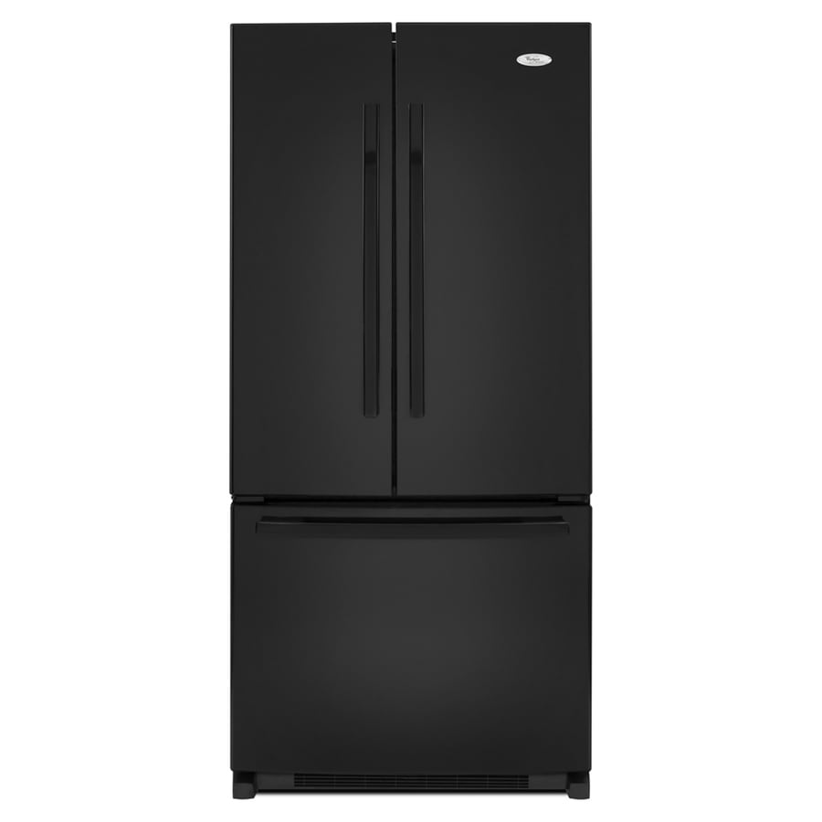 Whirlpool Gold 21.7-cu ft French Door Refrigerator with Single Ice Maker (Black) ENERGY STAR