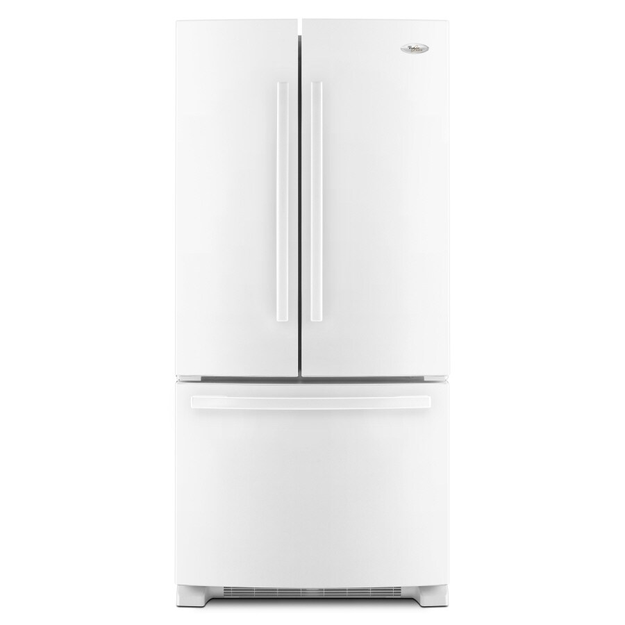 Whirlpool Gold 21.7-cu ft French Door Refrigerator with Single Ice Maker (White) ENERGY STAR