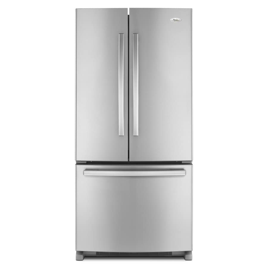 Whirlpool Gold 21.7-cu ft French Door Refrigerator with Single Ice Maker (Monochromatic Stainless Steel) ENERGY STAR