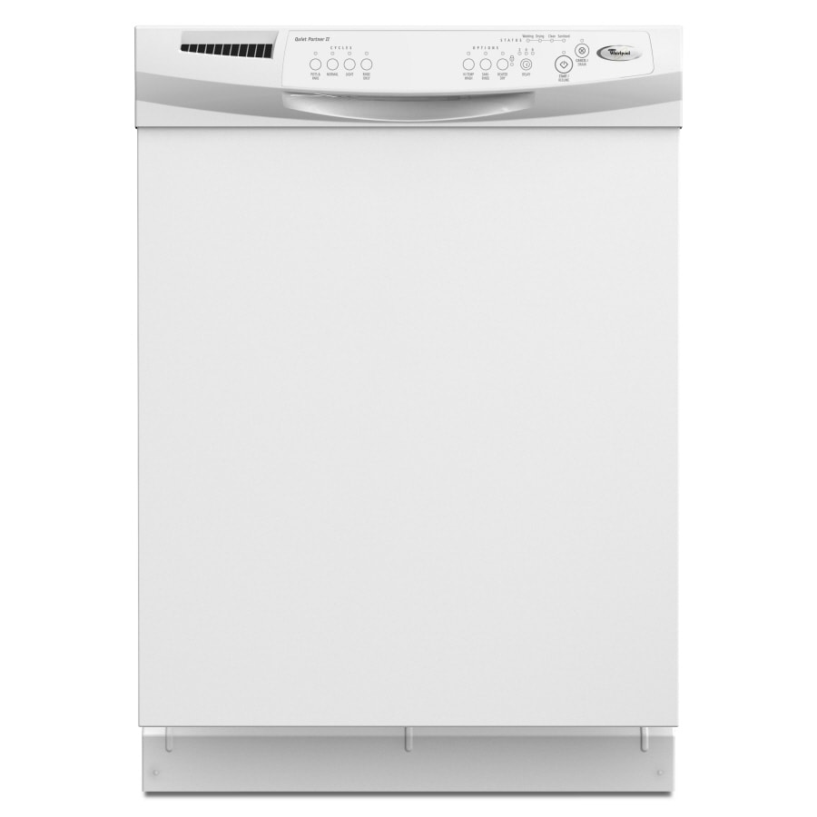 Whirlpool 60 Decibel Built In Dishwasher With Hard Food Disposer White