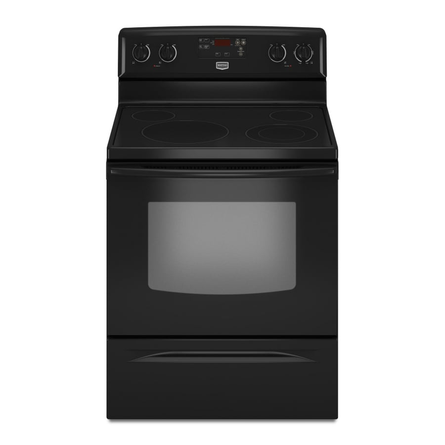 Maytag� 30-Inch Freestanding Electric Range  (Color:  Black)