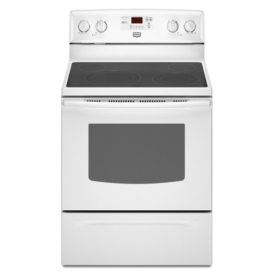 Maytag� 30-Inch Freestanding Electric Range  (Color:  White)