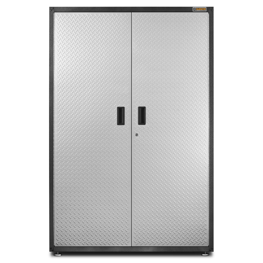 Gladiator 48-in W x 72-in H x 18-in D Steel Freestanding or Wall-Mount Garage Cabinet