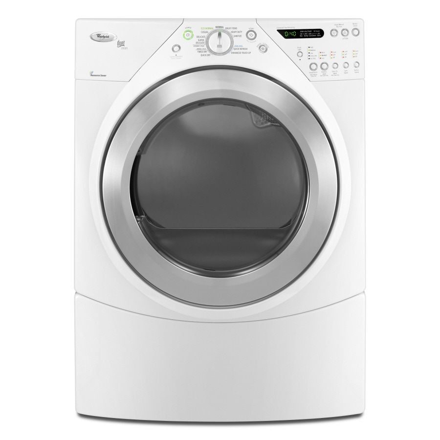whirlpool duet 72cu ft stackable electric dryer white