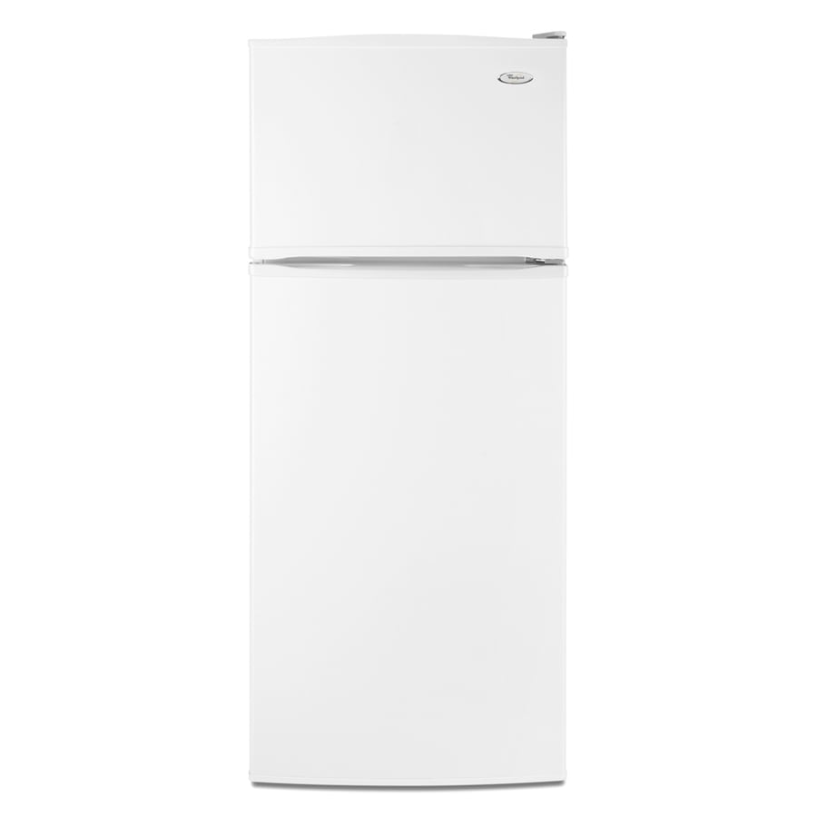 Whirlpool 17.6-cu ft Top-Freezer Refrigerator with Ice Maker (White)
