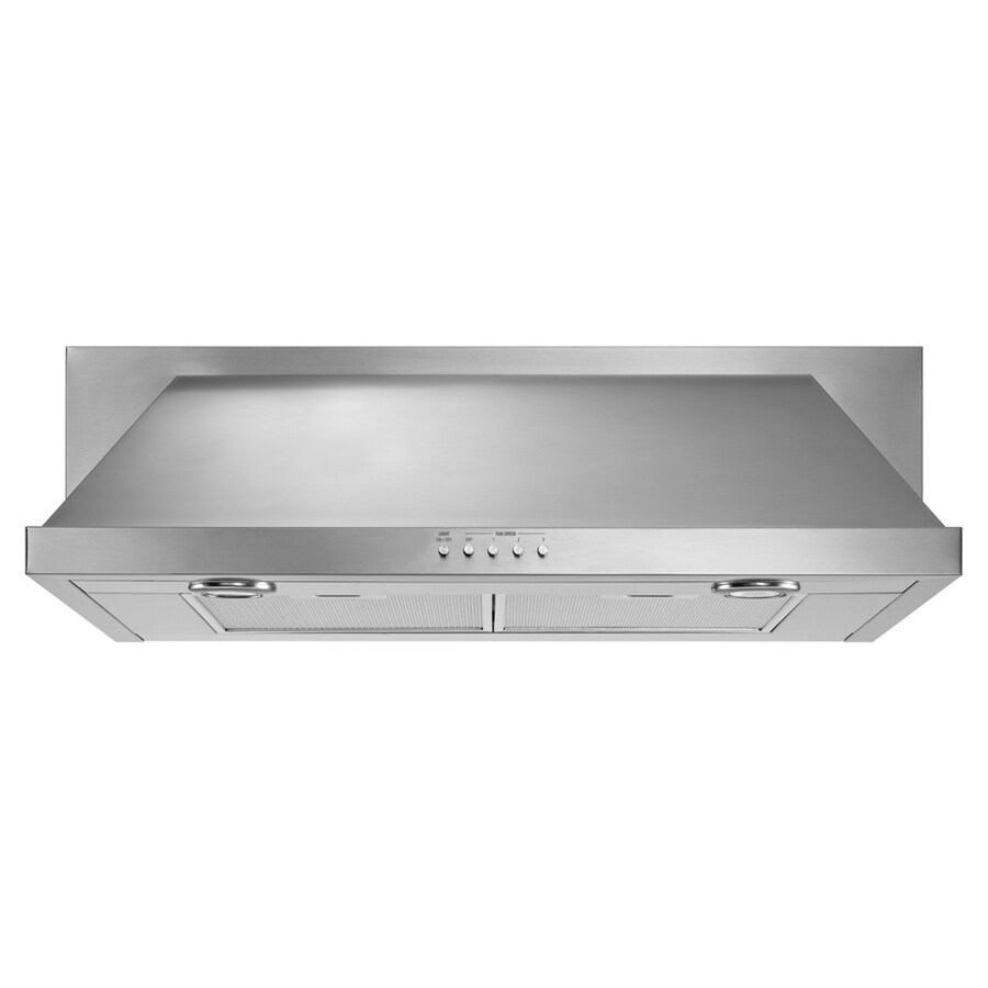 whirlpool range hood stainless common 36in actual - Under Cabinet Range Hood
