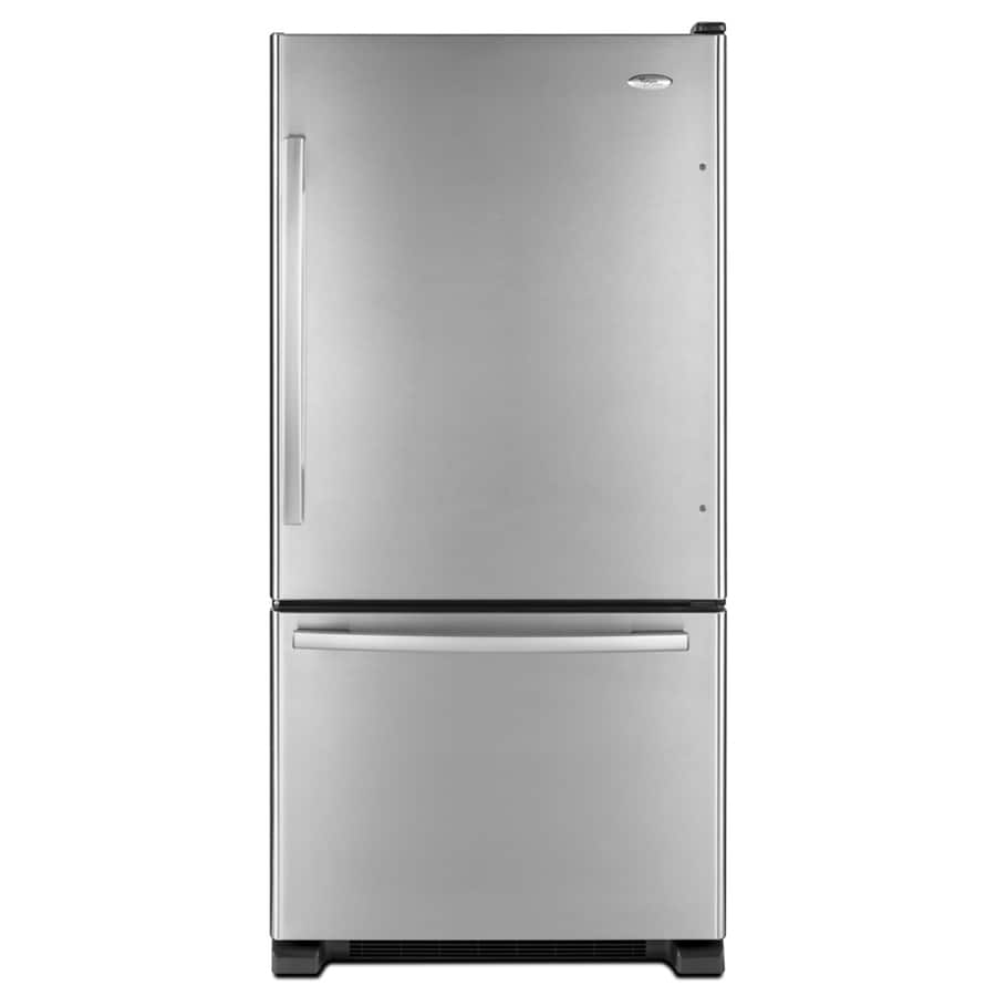 Whirlpool Gold 18.5-cu ft Bottom-Freezer Refrigerator with Single Ice Maker (Stainless Steel) ENERGY STAR